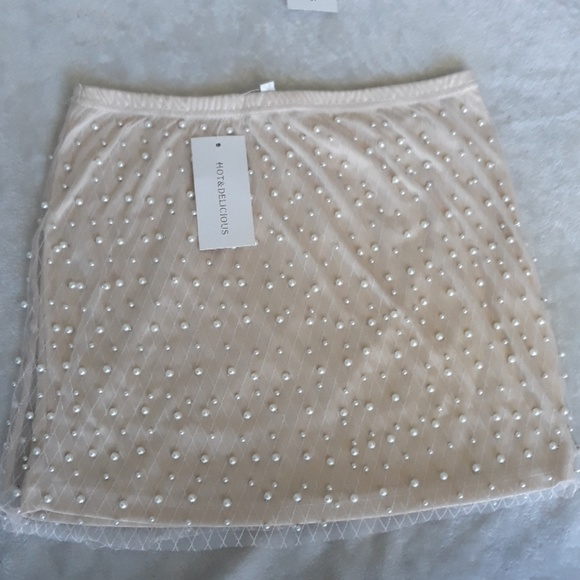 24712c69d0 Boutique Skirts | Pearl Studded Mini Skirt | Poshmark